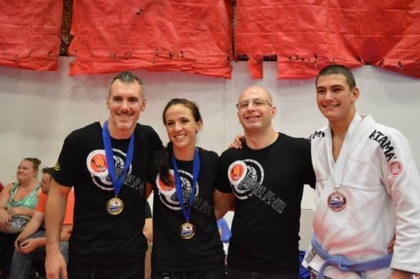 Medal Winners (L to R) Brent 1st, Stephanie 1st, Happy Coach, Daniel-San 1st