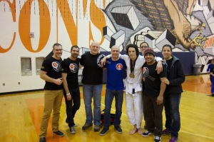 The team at Copa Nova with Troy winning gold at weight and absolute