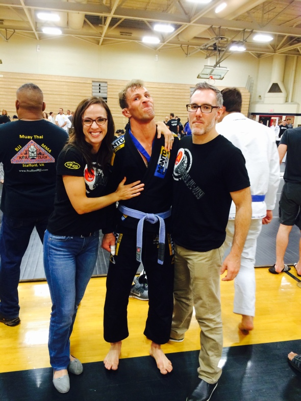 Brent & Stephanie Proud of the Champion-Nic!